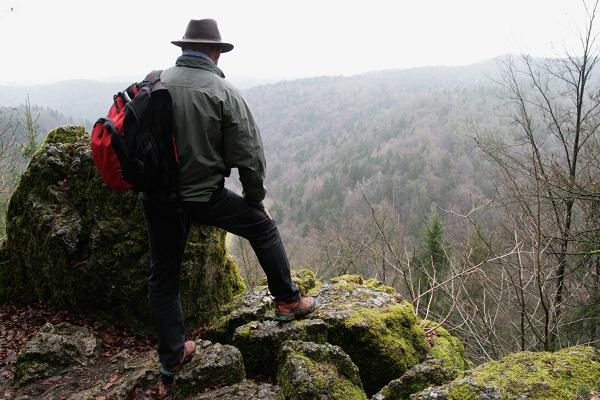 Blick auf das Wiesenttal bei Engelhardsberg in der Fränkischen Schweiz