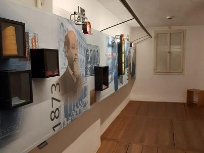 Foto Ausstellungsraum im levi Straussmuseum