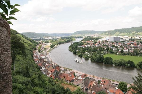 Blick auf Miltenberg von der Burg